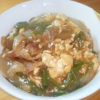 ご飯と麺にぴったり 炒り豆腐のとろとろあんかけ