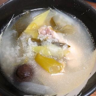 ほっこり!手羽元参鶏湯風スープ