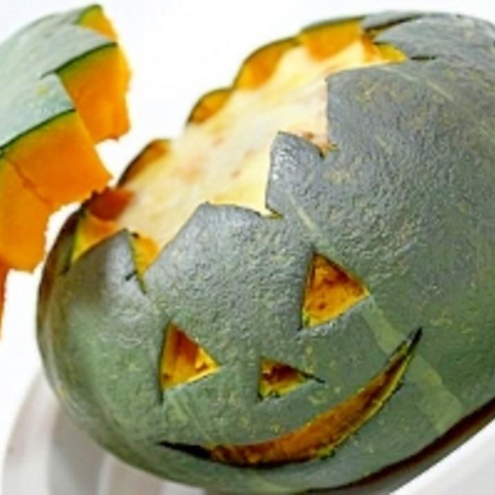 かぼちゃに入ったミートグラタン★ハロウィンに!