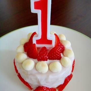 1歳*いちごたっぷりバースデーケーキ♪