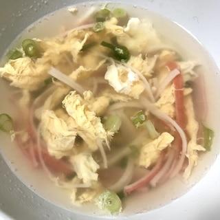 カニカマと卵のふわふわ中華スープ