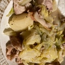 新キャベツ、じゃがいも、豚肉の簡単煮込み