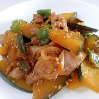 ご飯がすすむ☆豚肉とかぼちゃのごま照り焼き