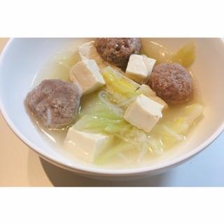 低糖質♪肉団子入り中華鍋♪