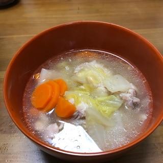栄養たっぷり!鳥手羽の野菜たっぷりスープ