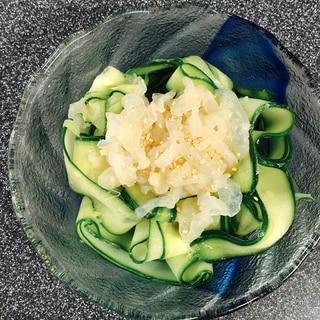 白クラゲときゅうりの冷菜(中華味)