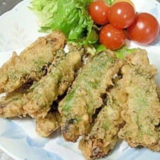 骨ごと食べる、簡単いわしの天ぷら