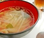 じゃがいもともやしの中華風スープ