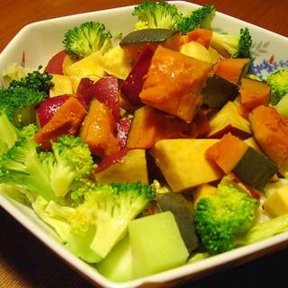 温野菜のサラダ★かぼちゃ・さつまいも・ブロッコリー