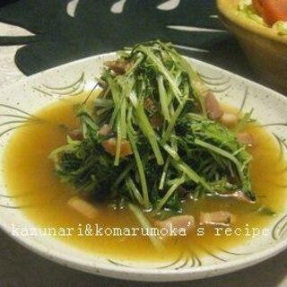 水菜とベーコンの炒め煮