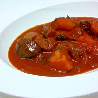 スパイスを使って☆☆野菜とビーフの本格インドカレー