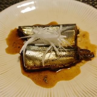 骨まで柔らかい☆秋刀魚のバルサミコ酢煮