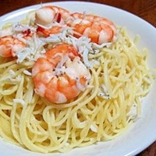 えびとしらすのスパゲティ
