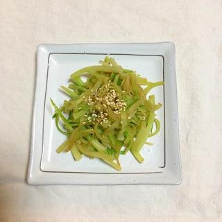 めんつゆと三温糖で簡単♪ブロッコリーの茎きんぴら♡