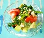 アボカドほうれん草の塩麹サラダ