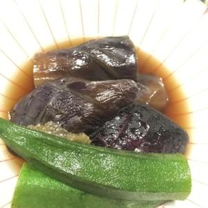 【簡単】ナスとオクラの煮浸し。