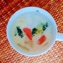 ブロッコリーと人参のミルクスープ