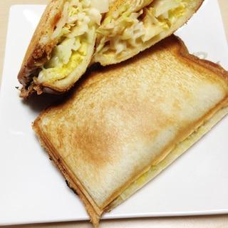 ホットサンド〜キャベツ・チーズ・卵〜
