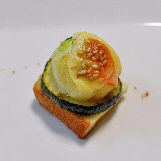 ズッキーニソテー&ポテトサラダdeおつまみパン