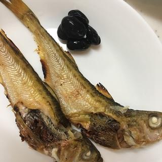 ひまわり油で☆ハタハタの塩焼き(^ ^)