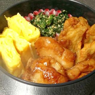 【簡単お弁当】朝は焼くだけ!鶏肉の照り焼き♪