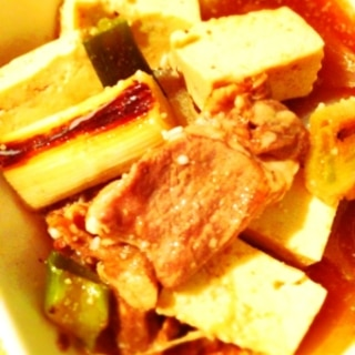 簡単、2分で作る肉豆腐