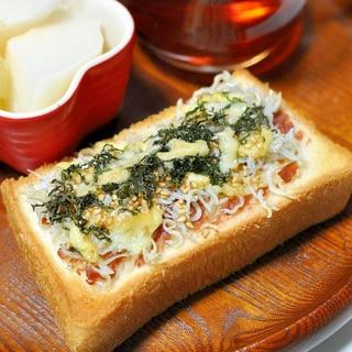梅肉しらすトースト