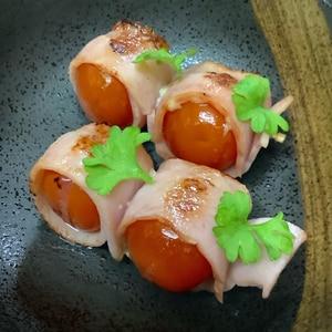 プチトマトのベーコン巻き お弁当にぴったり!