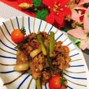 ニンニクの芽と牛肉の炒めもの