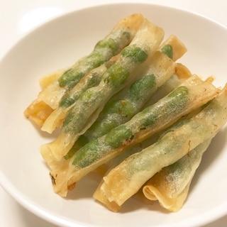 簡単シンプルおつまみ♪枝豆のカリカリ揚げ