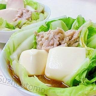 レンジで3分超簡単!あったか肉豆腐