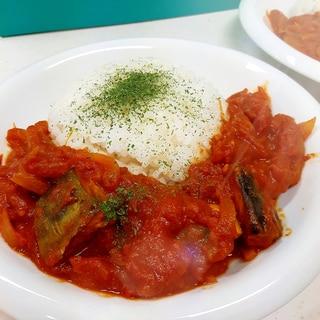 塩サバとトマト缶で簡単ヘルシー(^^)サバカレー♪