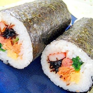 鮭と新生姜ほうれん草などなど♡7種の具で恵方巻き