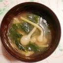 春の味♪野蒜とワカメのお味噌汁♪