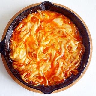 もやしキムチのチーズ焼き