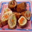 野菜と高野豆腐の肉巻き
