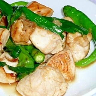 鶏肉と青唐辛子の味噌照り