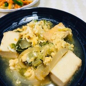 くたくた白菜と厚揚げの卵とじ♪