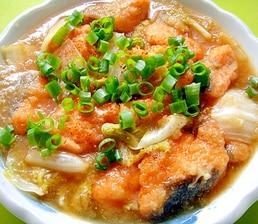 鮭と白菜のみぞれ煮