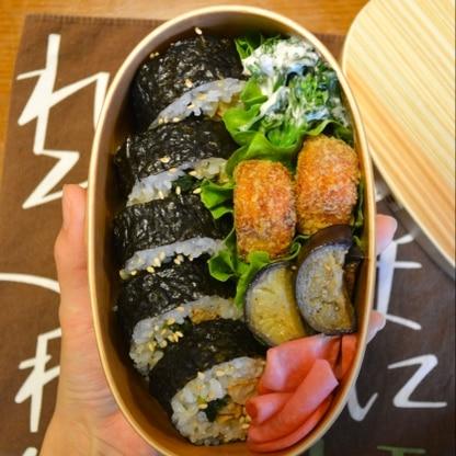 お麩×巻き寿司は思いつきませんでした。優しい味わいで美味しかったです。