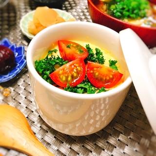 レンジで簡単♪ミニトマトの茶碗蒸し