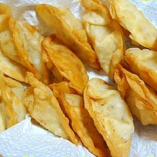 塩麹で味付け☆ツナと長ねぎの揚げ餃子