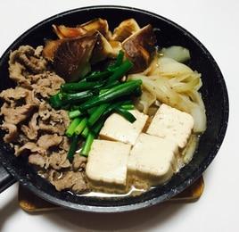 フライパンで!すき焼き風〜肉豆腐