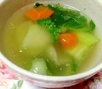 チンゲン菜とにんじんのスープ