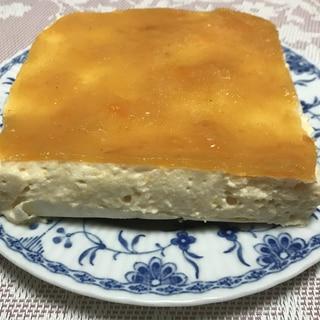 柿のレアチーズケーキ