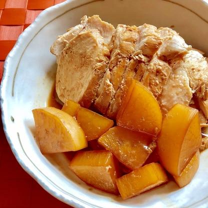 フライパンで簡単!鶏むね肉と大根のさっぱりポン酢煮