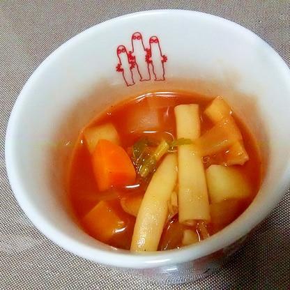 色んな野菜でミネストローネスープ++