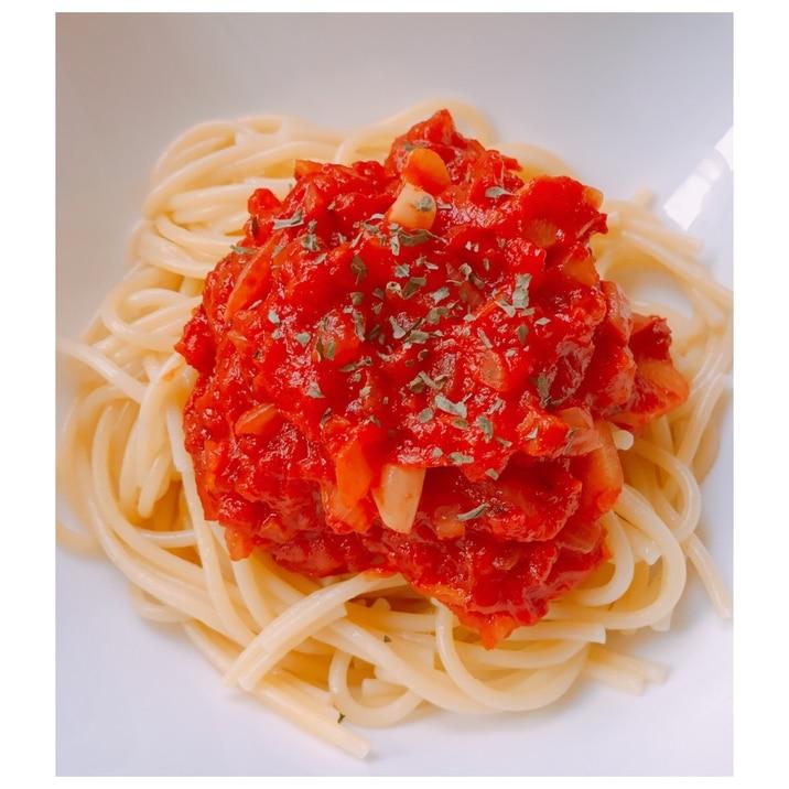 カット トマト パスタ