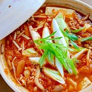 塩麹キムチ鍋