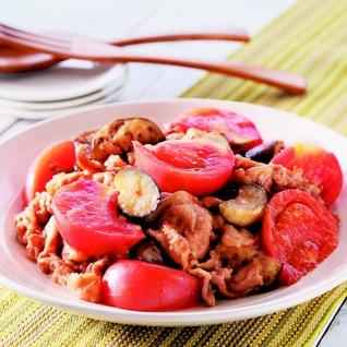 豚肉と茄子トマトの味噌炒め